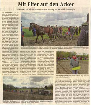 Zeitungsartikel vom Aktionstag